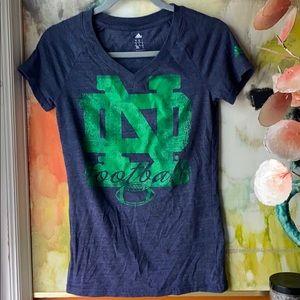 ADIDAS Norte Dame Football T-shirt• Small